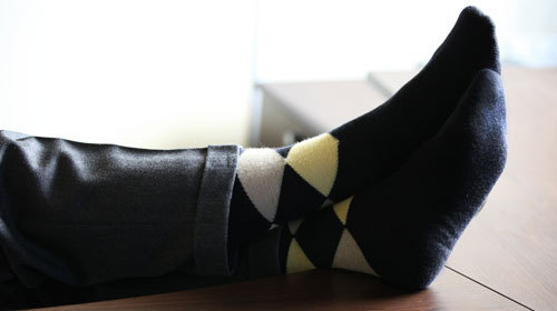 Patterned Merino Wool Socks