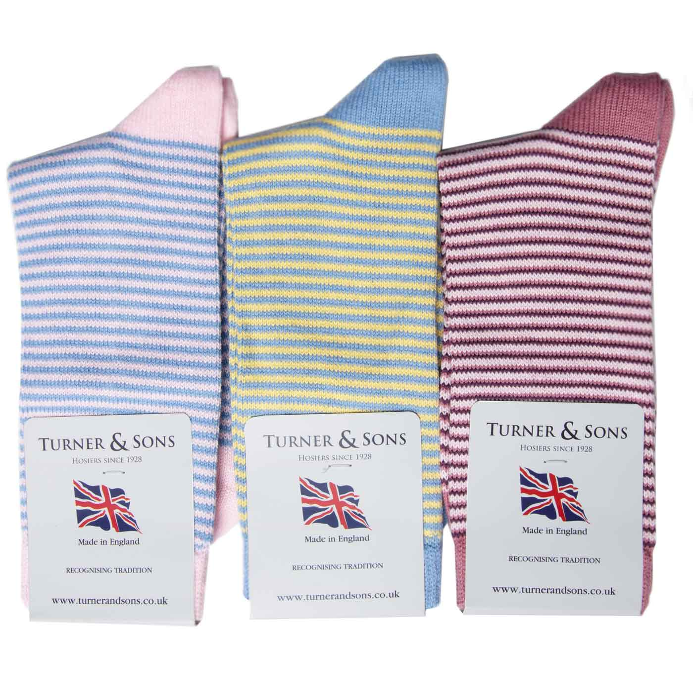 Turner-and-Sons-Ladies-Cotton-Stripes-Socks-Pastel
