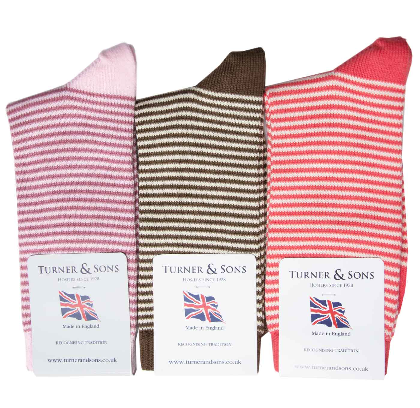 Turner-and-Sons-Ladies-Cotton-Stripes-Socks