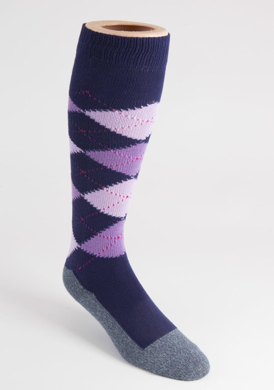 womens long argyle socks