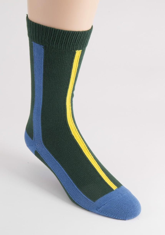 mens vertical stripe cotton socks british made